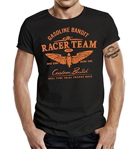 GASOLINE BANDIT® Biker T-Shirt: Racer Team Schwarz