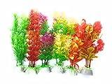 Colourful Aquarium Artificial / Plastic Plant 6 In 1 For Decoration - 8
