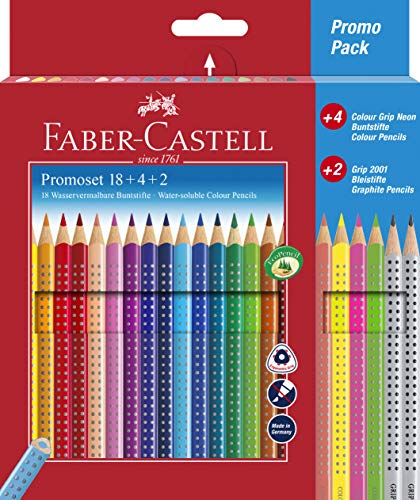 Faber-Castell 201540 - Promotionset Colour Grip 18+4+2