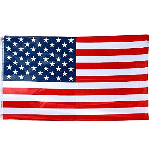Trixes Große USA-Flagge Amerikanische Sterne und Streifen 5ft x 3ft Flagge Sportliche Veranstaltungen 4. - Nationalen Land Kostüm