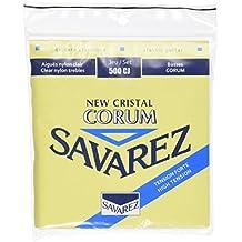 Savarez 656127 - Cuerdas para Guitarra Clásica New Cristal Corum juego 500CJ Tensión alta, azul