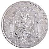 999 Purity Silver Coin Ganesha and OM 10 gms Akshayatrithiya