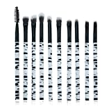 Zebra modello make up pennelli professionali, 10 pezzi, eyeliner ombretto Blending makeup Tools Eye kit by C. rave