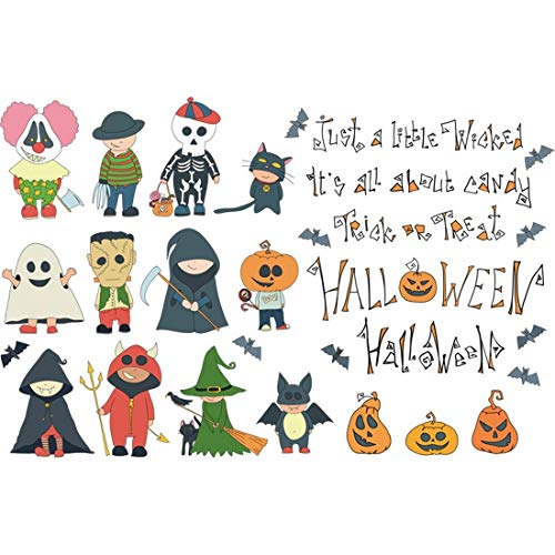 Halloween bar festivals, cartoon windows, glass doors, decorative posters, personalized creative shop wall stickers can be removed.