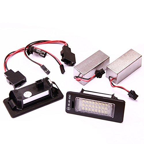 Handycop® Kennzeichenbeleuchtung für Audi A5 / Q5 / A4 B8 / S5 / TT / - Xenon Optik mit Zulassung