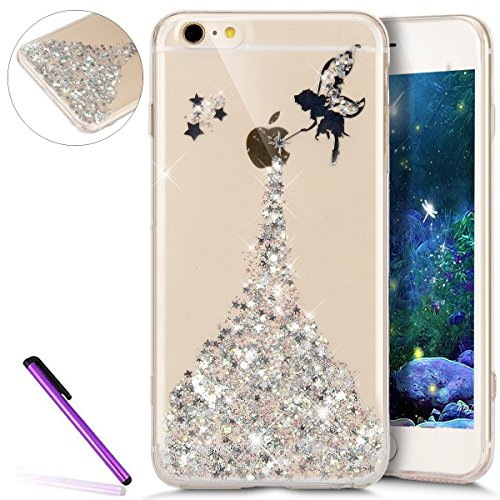 iPhone 7 Plus Silicone Case Transparen Slim,Bling Silicone Coque pour iPhone 7 Plus,Bumper Coque Housse Etui pour iPhone 7 Plus,EMAXELERS iPhone 7 Plus Coque Cristall Silicone TPU Case Slim Cover,iPho Angel Girl 4
