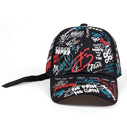 FHSOHG Marke Sommer Baseball Kappe Graffiti Sun Caps Hip Hop Visier Frühjahr Hut Einstellbare Snap-zurück Hüte Für Frauen Golf caps (Kinder-snap Zurück Hut)