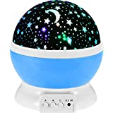 FWQPRA® New Bedroom Novelty Night Light Projector Lamp Flashing Turret Star Moonlight Star Projector for Kids Children Baby