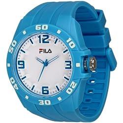 Fila Unisex Quartz Watch with Black Dial Analogue Display Quartz Plastic & 1036-06