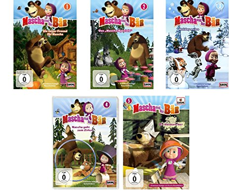 Mascha und der Bär - DVD zur TV-Serie 1-5 im Set - Deutsche Originalware [5 DVDs]