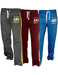 ARD Men's Fleece Joggers Track Suit Bottom Jogging Exercise Fitness Boxing MMA Gym Sweat Fleece Trousers (Blue,Maroon,Charcoal)