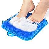 Tapis de Massage Douche, Tapis de Bain antidérapant avec Ventouses pour Masser et Nettoyer vos plantes des pieds
