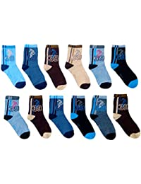 eselpro Boy's and Girl's Printed Ankle Socks (Assorted) - Pack of 12