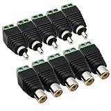 5 Paar RCA-Stecker Plus-BNC-Buchse Video Balun-Adapter für CCTV
