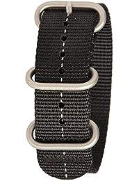 Bertucci B-181DX3Hombres de negro/fantasma gris nailon reloj inteligente banda