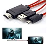 #10: Edios 2m Micro USB MHL to HDMI Cable Adapter HDTV for Samsung galaxy S3, S4, Note 2/3 , and Galaxy Tab 3 10.1