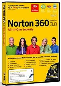 Norton 360 v3.0, 3 User Licence (PC DVD)