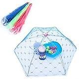 Teabelle Lebensmittel Regenschirm, Insektennetz Picknick Grill Küche Party bis Mesh Net 65x 65cm zufällige Farbe
