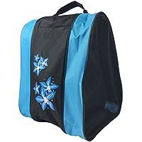 Alftek portátil rollschuh Guantes Bolsa Carrier titular caso para niños adultos, azul