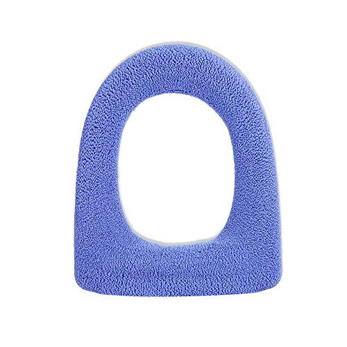 Ya jin 2pcs extra spesso più caldo copriwater cuscino morbido lavabile closestool sedile di grandi dimensioni light blue