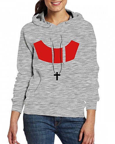 Custom Womens Hooded - Design Cross Hoodies Grey