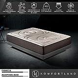 Komfortland Colchón viscoelástico Memory Platinum de 9 cm de ViscoProgression Grafeno de Alta Densidad (85 kg/m3) de 150x190 cm Altura 27 cm