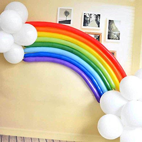 shyyymaoyi Regenbogen-Luftballon aus Latex, für Hochzeit, Geburtstag, Party, Dekoration, 25 Stück Multi