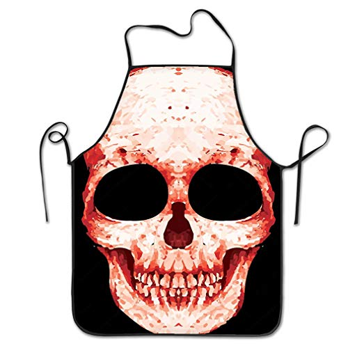 RGFJJE Funny Personality Apron Skull Rock n roll Band Music Man Design Graphic Image Chef Kitchen Aprons 20.4 * 28.3 inch