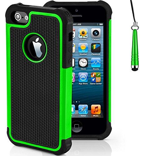 """iPhone Stoßfest Telefon Hülle/Case Gel TPU Abdeckung für iPhone 7 (4.7"""") mit Display Schutz / EJC Avenue / Grau Grün"""