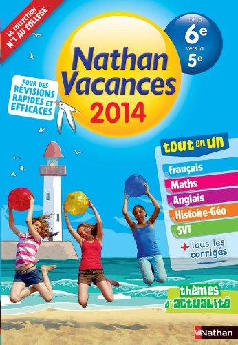 Nathan Vacances Collège - De la 6è vers la 5è