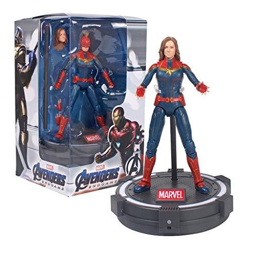 Marvel Toys - Avengers 3/4-7 Zoll Captain America/Iron Man/Spider Man/schwarzer Panther/Thor, Frau Marvel - gemeinsame bewegliche - Kindergeburtstagsgeschenk-Sammlung (Farbe : Ms. Marvel) (Captain Marvel America-ms)