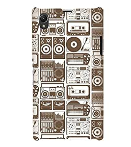 PrintVisa Designer Back Case Cover for Sony Xperia Z1 :: Sony Xperia Z1 L39h :: Sony Xperia Z1 C6902/L39h :: Sony Xperia Z1 C6903 :: Sony Xperia Z1 C6906 :: Sony Xperia Z1 C6943 (Stage Songs Dvd Cd Led Lcd Radio Walkman )