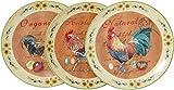Biscottini Set Tre Piatti Decorativi da Parete in Ceramica Decorata L20XPR20XH2 cm