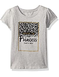 The Childrens Place Baby Girls Leopard Princess Graphic Tee