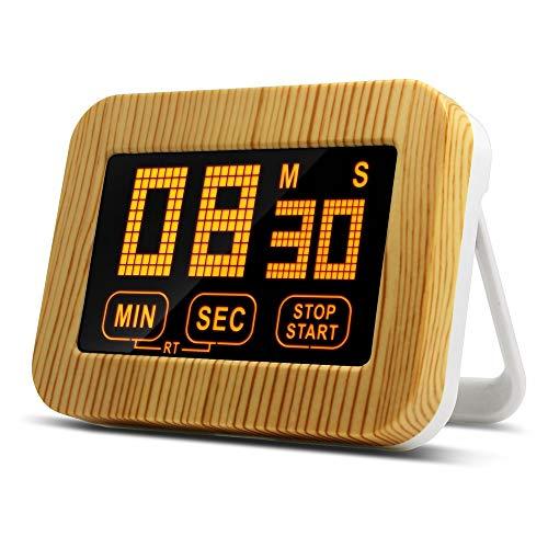 LAOPAO Küchentimer,Magnetisch Count up&Countdown Timer Uhr mit Licht für ochen, Backen, Sport, Studieren usw