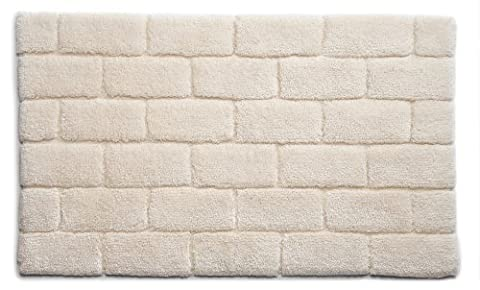Hug Rug Bamboo Brick 100% Organic Cotton Bathroom Mat, Cream, 60 x 100 Cm
