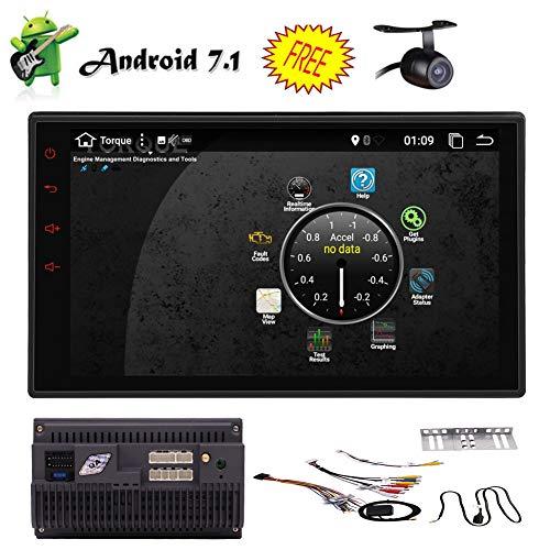 "EINCAR Backup-Kamera inklusive Android 7.1 Eibisch Auto-Stereoradio mit 7"" Digital Touch Screen Double 2 Din Head Unit Support-Lenkrad-Steuerung Bluetooth 4.0 USB-3G / 4G WiFi FM/AM RDS"
