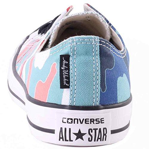 Converse Chuck Taylor Unisex Warhol Ox Ni-Basketball-Schuh Nile Blue Sea