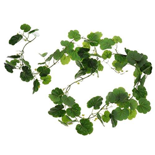 Sharplace Künstliche Terrarium Pflanzen Reben Kletterpflanze Dschungel Reben Reptilien Lebensraum Dekor - Typ 2
