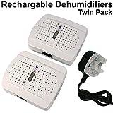 Twin Pack (2x) batteria e riutilizzabili portatile deumidificatore...