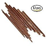 Ruiyele Lot de 12Poignée en bambou Crochets Aiguilles en bois pour l'artisanat en...