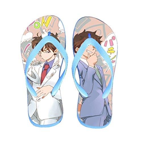 Bromeo Detective Conan Anime Unisex Flip Flops Zehentrenner Flip Pantoffeln 660