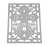 healifty Schablone aus Metall für Album-Papier Kunst Handwerk Scrapbooking DIY (Kreuz Blume)