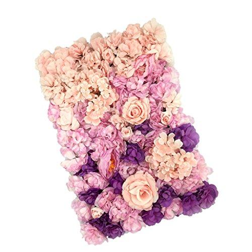 Gazechimp Künstliche Blumen Säule Kunstblumen Wand Schaufenster Straße Hochzeit Deko-Farbverlauf Serie - Farbverlauf A # 4