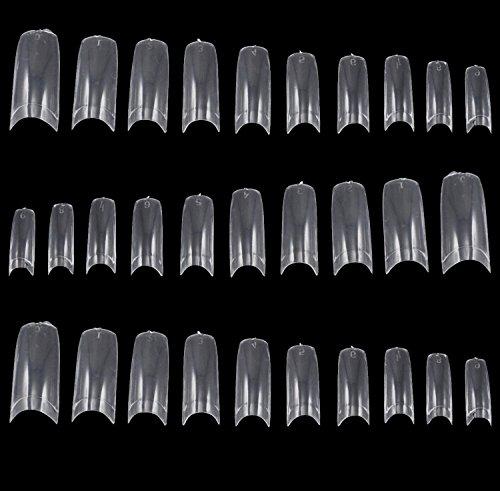 TRIXES 500 faux bouts d'ongles acrylique french pour conseils pour varnish art ou extensions gel clear