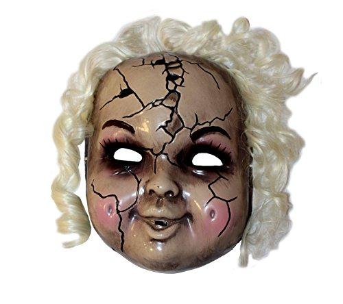 Marionette Puppe Gruselige Kostüm - ILOVEFANCYDRESS Halloween GRUSELIGE Puppen Maske Dekoration + KOSTÜM ZUBEHÖR = DIE PERFEKTE Horror REQUISTE ODER KOSTÜM VERKLEIDUNG Horror Puppen Maske MIT Haaren