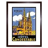 Wee Blue Coo Ad Travel Cathedral Hotel Condestable Burgos Spain Espana Lámina Enmarcada 12 x 16 Pulgadas