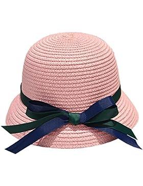 XueXian(TM) Bebé Niña Sombrero Gorra del Sol de Paja Protección del Sol para Playa Una Talla