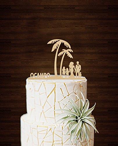 glied Cake Toppers Unique Wedding Dekoration Tortenaufsatz Custom Name Kuchen Design Party Geschenk für Familie Gastgeschenken ()