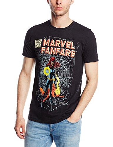 Marvel Herren T-Shirt Fanfare Schwarz - Schwarz